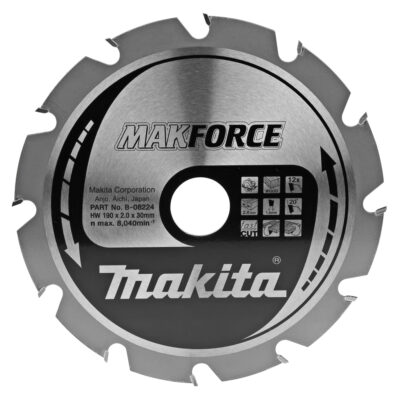 LAMA MAKITA B-02939 Ø190mm FORO30mm 12 DENTI