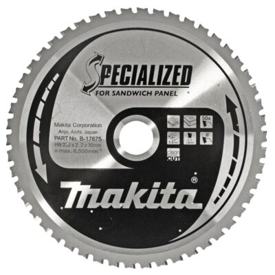 LAMA MAKITA B-17675 Ø235mm FORO30mm 50 DENTI