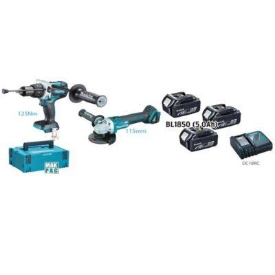 DHP481+DGA513+DC18RC+3 BATTERIE BL1850B MAKITA DLX2254TJ1