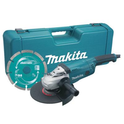 SMERIGLIATRICE ANGOLARE CON VALIGETTA 230 mm MAKITA GA9020KD