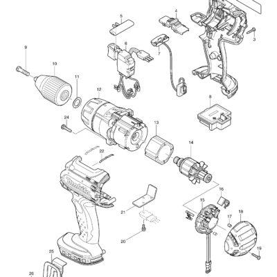 SPACATO AVVITATORE A PERCUSSIONE 18V DHP451RFE/RMJ