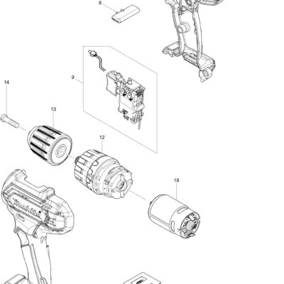 SPACCATO TRAPANO AVVITATORE A PERCUSSIONE HP333DZJ