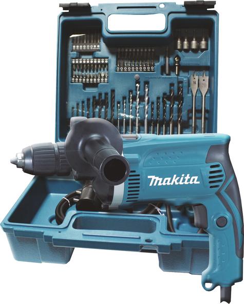 TRAPANO CON PERCUSSIONE 16mm AUTOSERRANTE + ACCESSORI MAKITA HP1631KX3